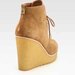 Tory Burch tan wedges 8 Denise